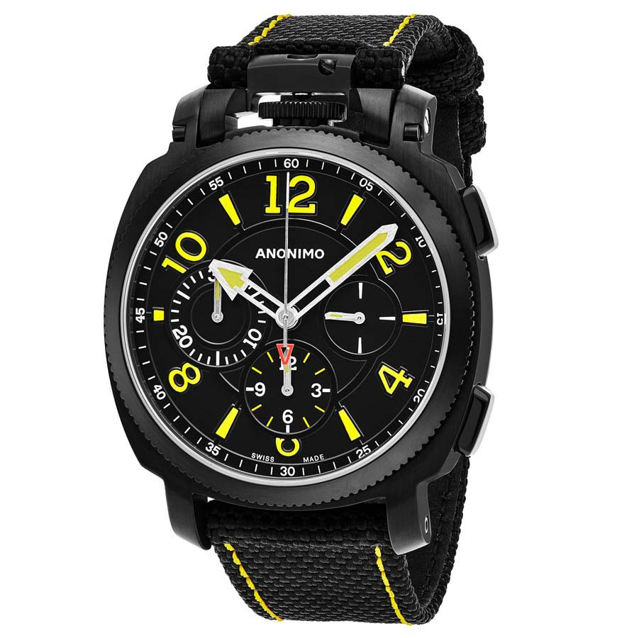 Anonimo Military Black Dial Men's Chronograph Automatic Watch AM110002004A01